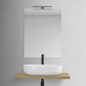 Lavabo Ovale da Appoggio Bianco Opaco