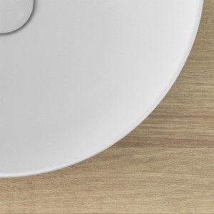 Lavabo Ovale da Appoggio Bianco Opaco 60x41,6 cm