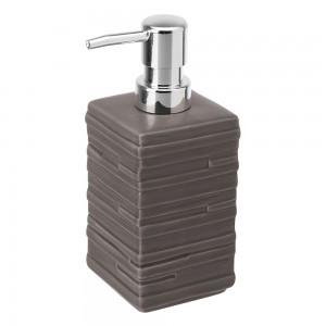 Dispenser Sapone Liquido In Ceramica Tortora Da Appoggio