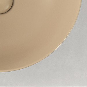 Lavabo  da Appoggio Ovale 60x41,6 cm Cappuccino Opaco