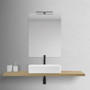 Lavabo da Appoggio Rettangolare 36x58 cm Bianco Opaco