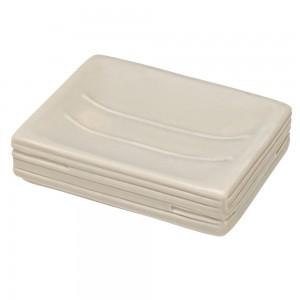 Piattino Portasapone In Ceramica Beige Da Appoggio