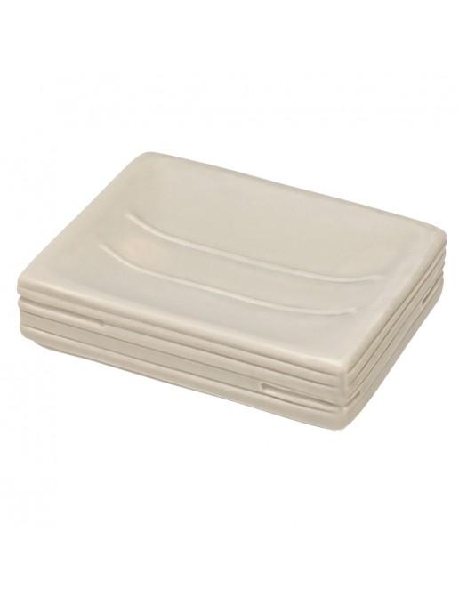 Portasapone in Ceramica Beige Linea Brik