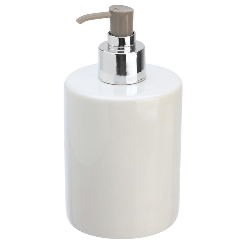 Dispenser Sapone in Ceramica Bianco Linea Cily