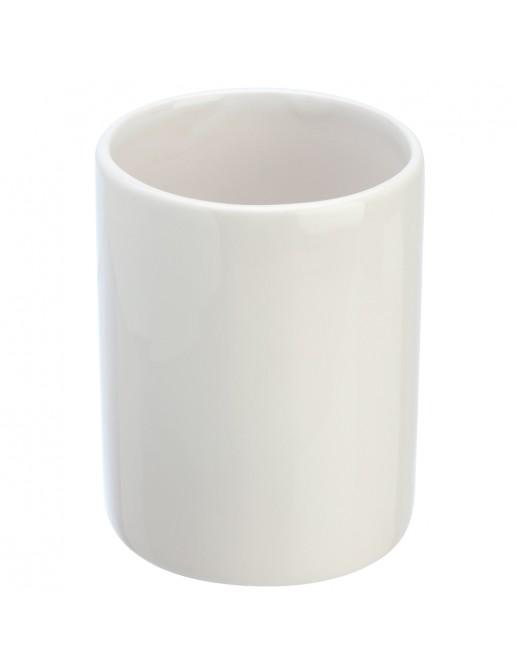 Portaspazzolino in Ceramica Bianco Linea Cily