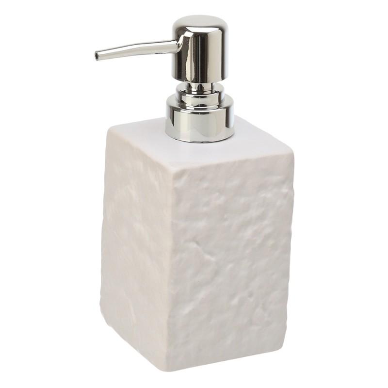 Dispenser Sapone in Ceramica Bianco Linea Petra