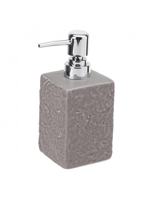 Dispenser Sapone Liquido Moderno In Ceramica Grigio D' Appoggio