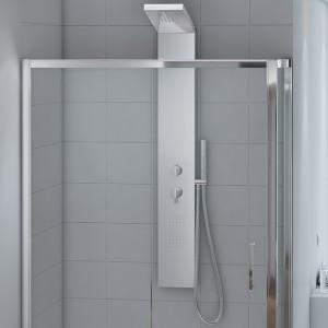 Cabina doccia 80x140 cm Angolare Cristallo Trasparente