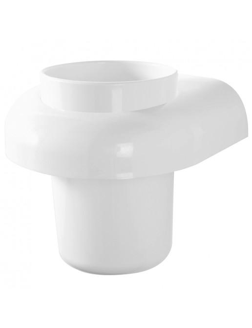 Portaspazzolino in plastica Bianco