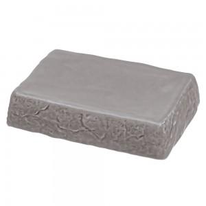 Portasapone in Ceramica Grigio Linea Petra