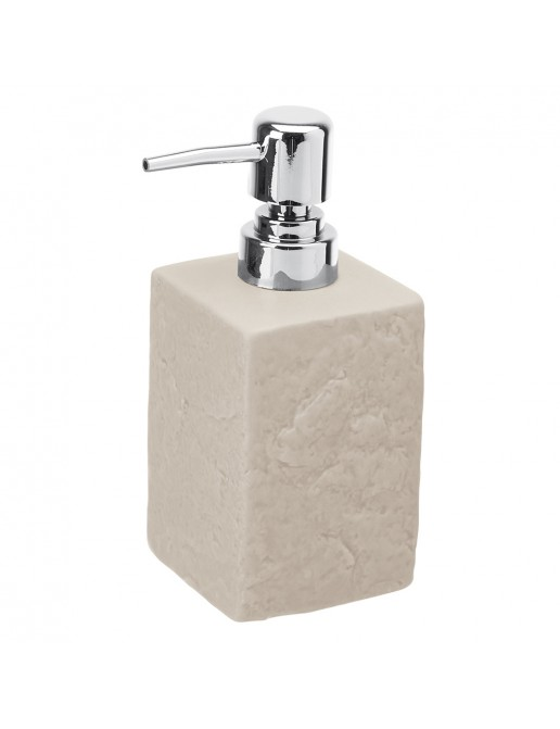 Dispenser Sapone Liquido Moderno In Ceramica Beige D' Appoggio