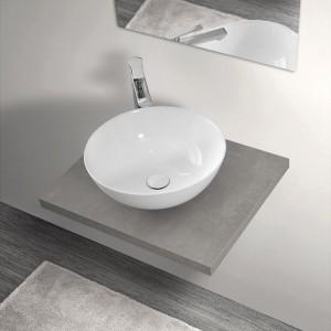 Mensola Portalavabo Grigio Cemento per Lavabi da Appoggio da 60 cm Inbagno - 1