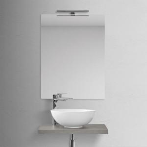 Mensola Portalavabo Grigio Cemento per Lavabi da Appoggio da 60 cm Inbagno - 3