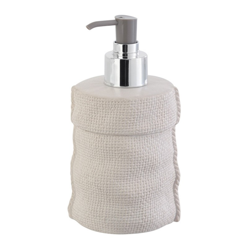 Dispenser Sapone  in Ceramica Bianco Linea Sacco