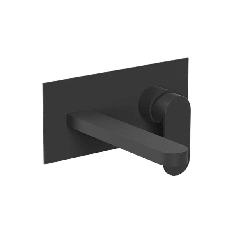 Miscelatore a Incasso per Lavabo con canna 18 cm Nero Opaco