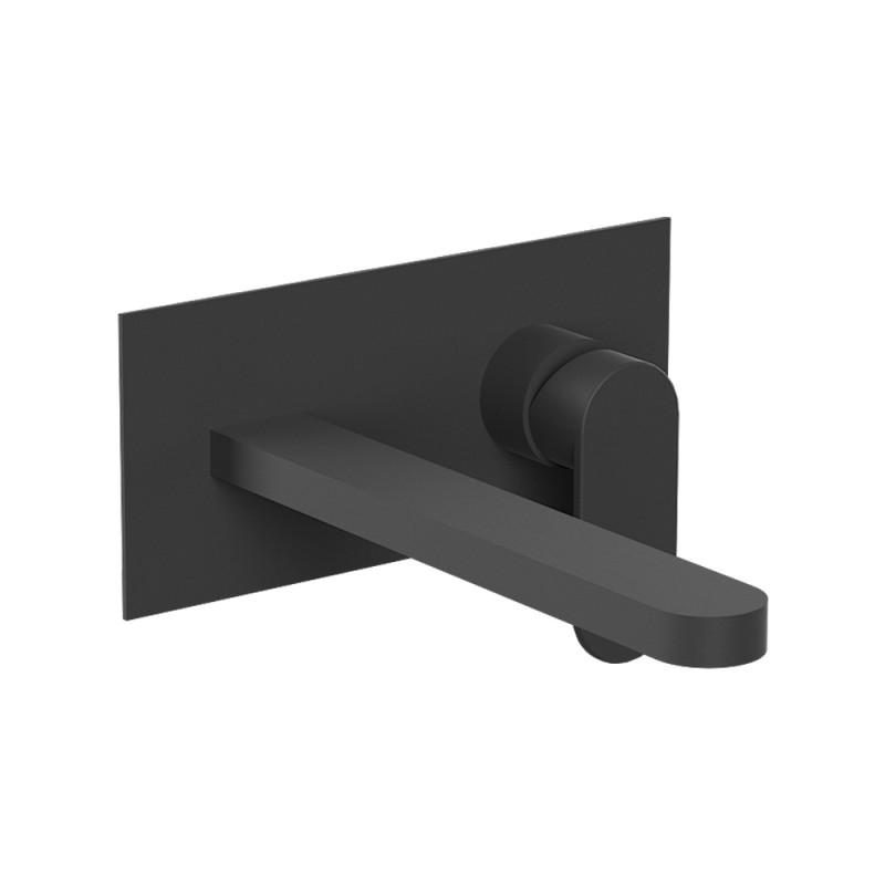Miscelatore a Incasso per Lavabo con canna da 22,5 cm Nero Opaco