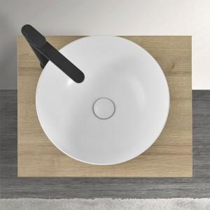 Mensola Portalavabo Rovere per Lavabi da Appoggio da 60 cm