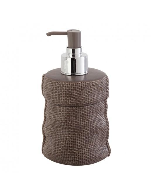 Dispenser Sapone  in Ceramica Grigio Linea Sacco