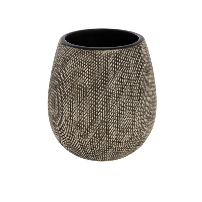 Portaspazzolino in Ceramica Grigio Linea Safari