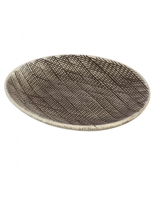 Portasapone in Ceramica Grigio Linea Safari