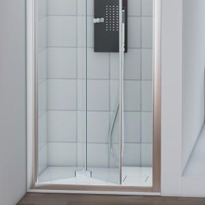 Porta a Soffietto per doccia da 70 cm per Nicchia in Cristallo Temperato H200 cm