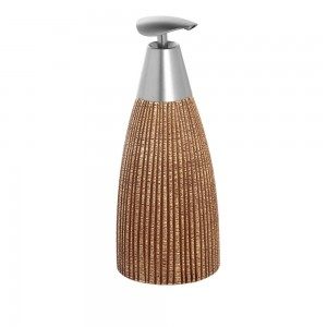 Dispenser Sapone in Ceramica Marrone Linea Kenya
