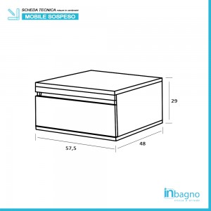 Cassettiera Su Ruote In Nobilitato Melaminico Colore Cemento Feridras - 5