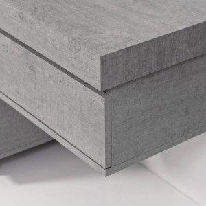 Mensolone Bagno Sospeso In Nobilitato Melaminico Colore Cemento 120 cm Feridras - 7