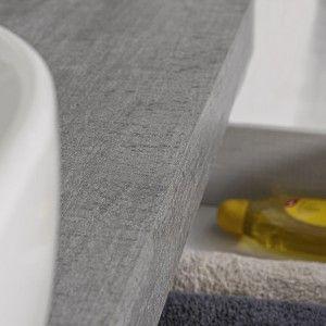 Mensolone Bagno Sospeso In Nobilitato Melaminico Colore Cemento 120 cm Feridras - 8