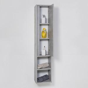 Pensile In Nobilitato Melaminico Colore Cemento 150 cm con Anta Slow Motion Feridras - 4