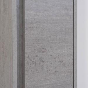 Pensile In Nobilitato Melaminico Colore Cemento 150 cm con Anta Slow Motion Feridras - 5