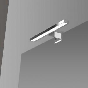 Lampada LED Universale Per Specchio 20 Cm In Abs Cromo