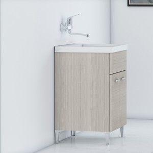 Lavatoio Larice 60x50 cm con Vasca e Strofinatoio Integrato
