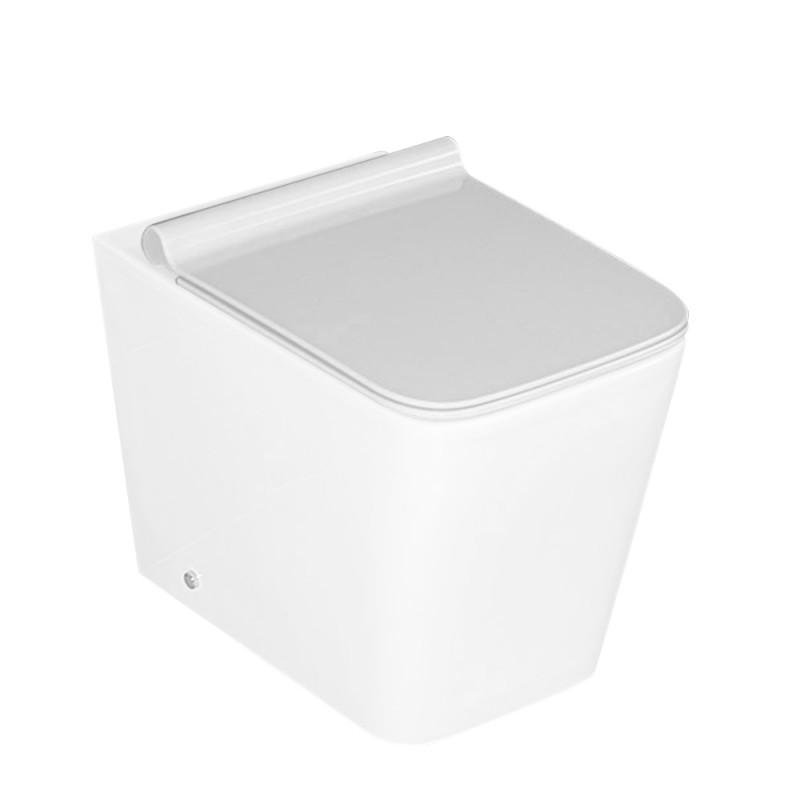 Copriwater Bianco Serie Malaga per WC Sospeso e Filomuro con Sgancio Rapido
