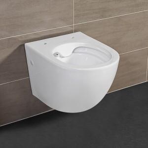 Wc Sospeso Salvaspazio Bianco Lucido in Ceramica Serie Tokyo Inbagno - 1