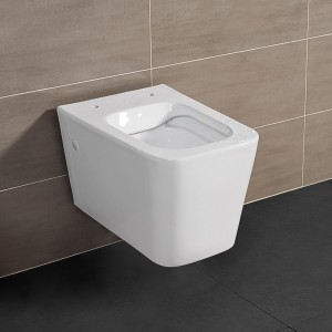 WC Sospeso RIMLESS serie Malaga Bianco Lucido in Ceramica