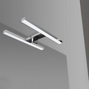 Specchio LED 70x90 cm con Angoli Stondati con Lampada