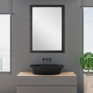 Specchio con Cornice Nero 60x80 cm Reversibile