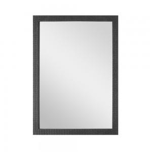 Specchio Cornice Mosaico Nero 60x80 cm Reversibile
