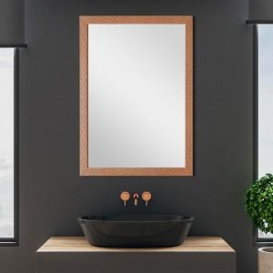 Specchio con Cornice Mosaico Rame 60x80 cm Reversibile