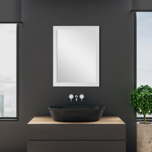 Specchio Argento Cornice Mosaico 60x80 cm Reversibile