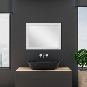 Specchio Reversibile Argento con Cornice Mosaico 60x80 cm