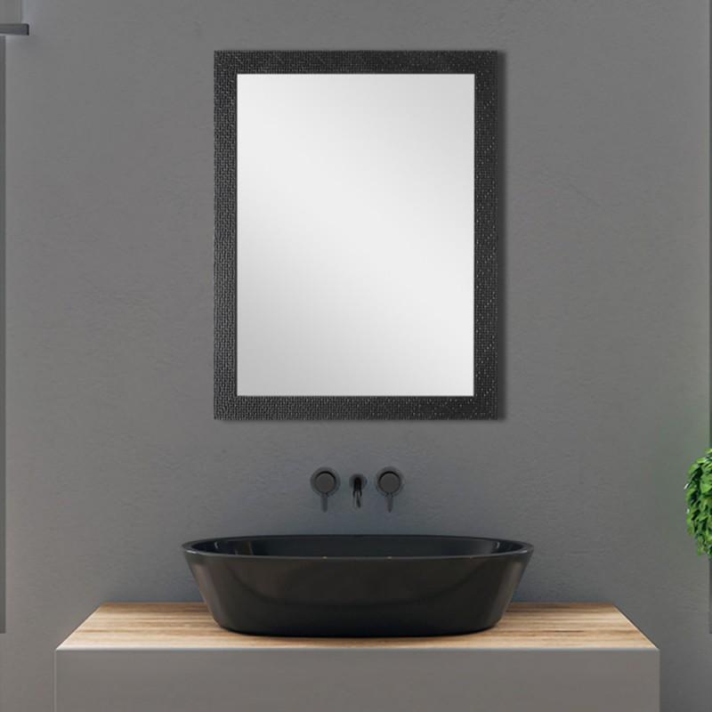 Specchio Nero con Cornice Mosaico 50x60 cm Reversibile