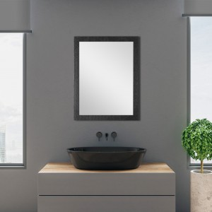 Specchio Nero Mosaico 50x60 cm Reversibile