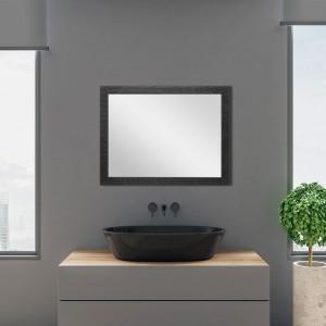 Specchio con Cornice nero 50x60 cm Reversibile