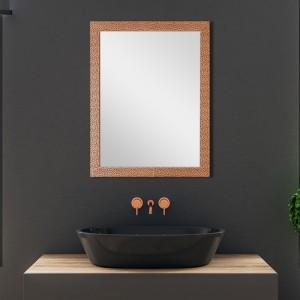 Specchio Rame Reversibile Con Cornice Mosaico 50x60 cm