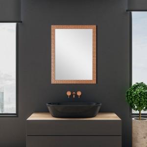 Specchio Rame Con Cornice Mosaico 50x60 cm