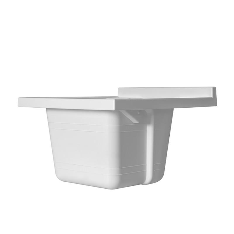 Vasca per Lavatoio Ricambio 50 x 50 in Resina Bianco