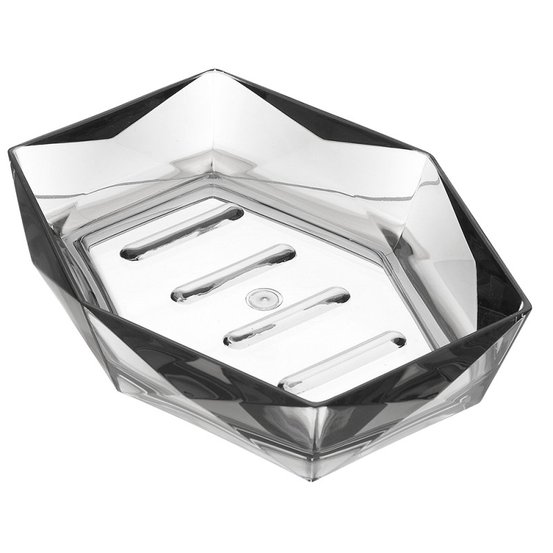 Portasapone Grigio Linea Diamante