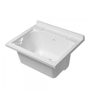 Vasca per Lavatoio in Resina 60x50 cm Bianca resistente agli acidi